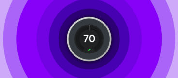 Graphic of a Nest thermostat set to 70 degrees.